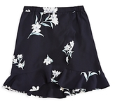 Aqua Girls' Floral Crossover Front Skirt, Big Kid - 100% Exclusive