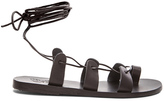 Ancient Greek Sandals Leather Alcyone Sandals in Black.