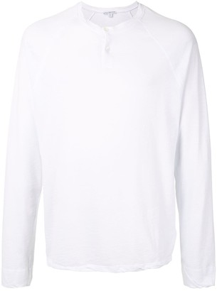 James Perse Dry Touch Long-Sleeved Henley