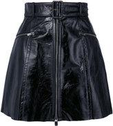 Drome belted waist skirt - women - Leather/Cupro - XS