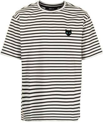 SONGZIO stripe-pattern short-sleeve T-shirt