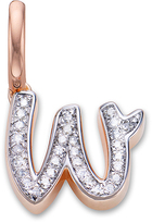 Monica Vinader Diamond W Alphabet Pendant