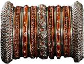 Indian Bridal Collection! Panache' Bangles Set in Silver Tone By BangleEmporium.