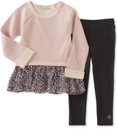 Calvin Klein Baby Girls' 2-Pc. Layered-Look Tunic & Jeggings Set