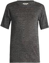 Etoile Isabel Marant Keiran short-sleeved linen T-shirt