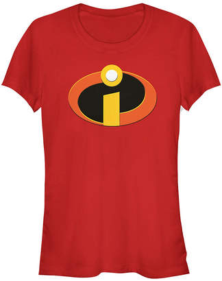 Fifth Sun Disney Pixar Women Incredibles Logo Short Sleeve Tee Shirt