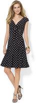 Lauren Ralph Lauren Polka-Dot A-Line Dress
