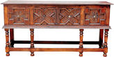 One Kings Lane Vintage Refectory Tudor-Style Console