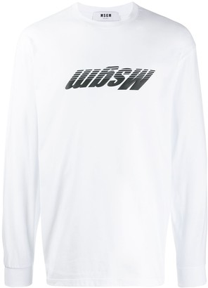 MSGM Inverted Logo Printed Sweatshirt