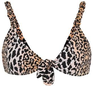 Reina Olga Luca leopard-print bikini top