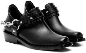 Paco Rabanne Moto leather ankle boots