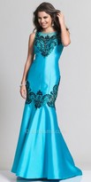 Dave and Johnny Mermaid Embellished Prom Dress