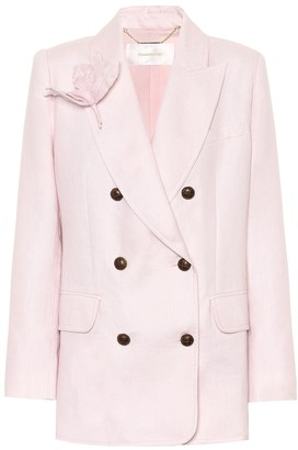 Zimmermann Corsage linen blazer