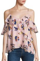 Tanya Taylor Abstract Floral Chiara Top