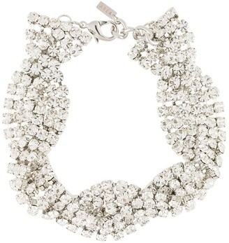 Area Twisted Crystal-Embellished Necklace