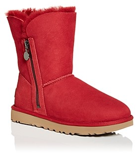 UGG Women's Bailey Zip Short Shearling Boots
