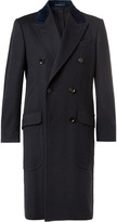 Dunhill - Double-breasted Velvet-trimmed Cashmere Overcoat
