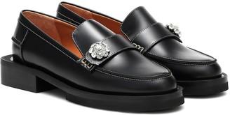 Ganni Jewel leather loafers