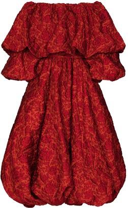 Simone Rocha x Browns 50 floral cloque midi dress