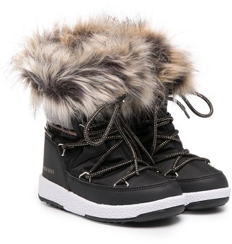 MOON BOOT KIDS Faux-Fur Ankle Boots