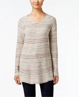 Style&Co. Style & Co. Striped Tunic Sweater, Only at Macy's