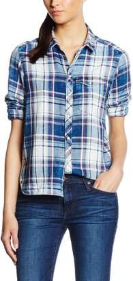 G Star Raw Women's Tacoma One Pocket Long Sleeve Bf Indigo Shirt Flannel Check