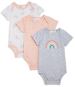 Bloomie's Girls' Rainbow Bodysuits, Baby - 100% Exclusive