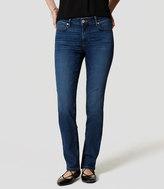 LOFT Curvy Straight Leg Jeans in Medium Faded Wash