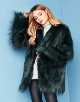 Noisy May Long Sleeve Faux Fur Jacket