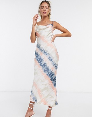 Public Desire maxi cami slip dress in tie dye