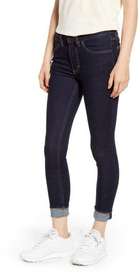 Wrangler High Waist Cuffed Skinny Jeans
