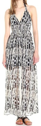 BB Dakota Women's Willow Printed Chiffon Maxi Dress