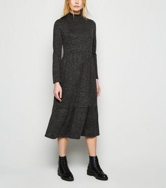 New Look High Neck Smock Midi Dress