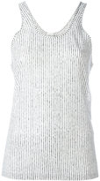 Forte Forte striped tank top - women - Linen/Flax - 0