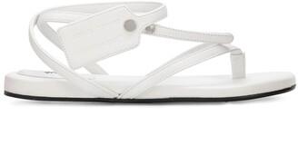 Off-White Tag-Detail Strappy Sandals