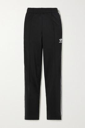 adidas Firebird Striped Satin-jersey Track Pants - Black
