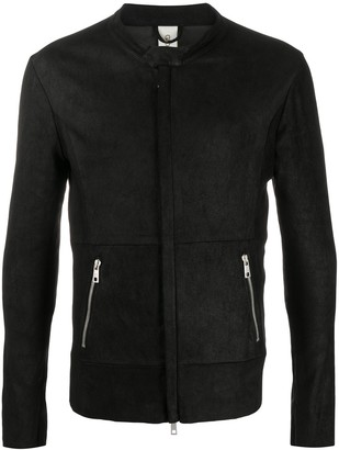 Giorgio Brato Concealed-Zip Leather Jacket