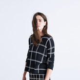 Madewell Double Windowpane Pullover Sweater