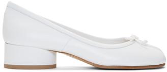 Maison Margiela White Tabi Ballerina Heels