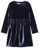 Il Gufo Navy Velvet Party Dress