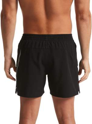 Nike 5 Inch Perforated Swoosh Swim Shorts - Black