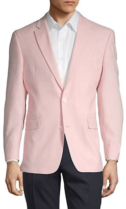 Tommy Hilfiger Notch Lapel Linen Blend Jacket