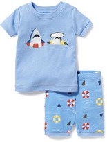 Old Navy 2-Piece Shark Graphic Sleep Set for Toddler & Baby