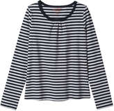 Joe Fresh Kid Girls' Stripe Tee, Grey Mix (Size L)