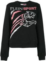 Plein Sport - logo print sweatshirt - women - Cotton - XS
