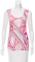 Emilio Pucci Semi-Sheer Abstract Tunic