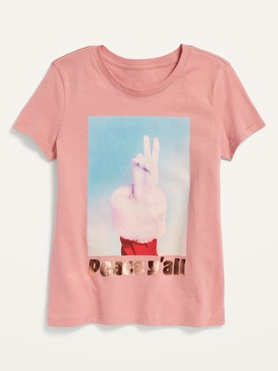 Old Navy Short-Sleeve Holiday-Graphic Tee for Girls