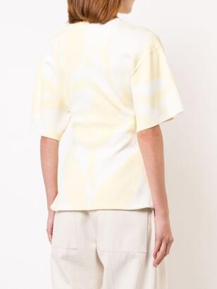 Proenza Schouler Tie Dye Knit Ruched Top