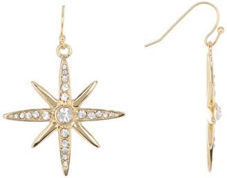 Jessica Simpson Thorn Star Drop Earrings