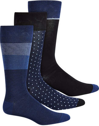 Perry Ellis 3-Pk. Men Colorblocked Striped Socks